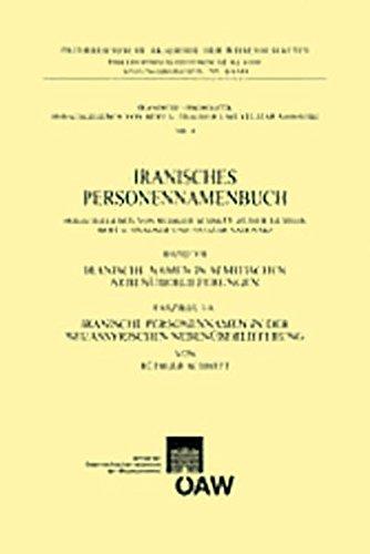 Iranisches Personennamenbuch, Band Vii. Faszikel 1a: Schmitt, Rudiger