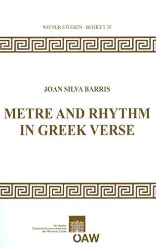 9783700169024: Metre and Rhythm in Greek Verse (Wiener Studien)
