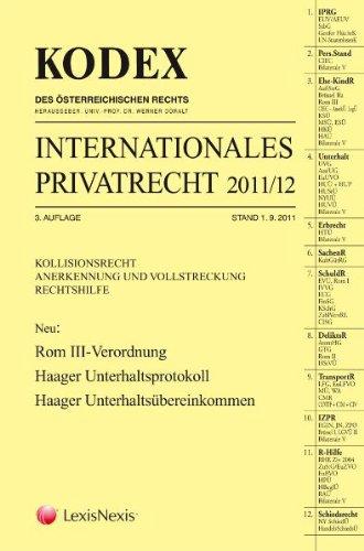 9783700750307: KODEX Internationales Privatrecht: 2011/12
