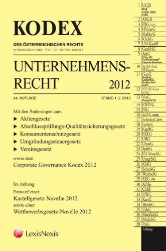 9783700751830: KODEX Unternehmensrecht: 2012