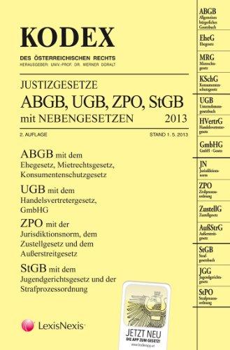 9783700755180: KODEX Justizgesetze 2013: mit Nebengesetzen