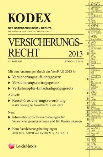 9783700755401: KODEX Versicherungsrecht 2013