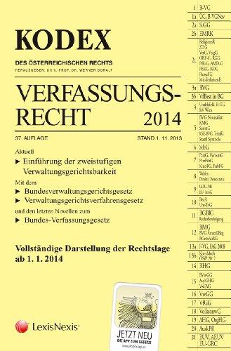 9783700756125: KODEX Verfassungsrecht 2014