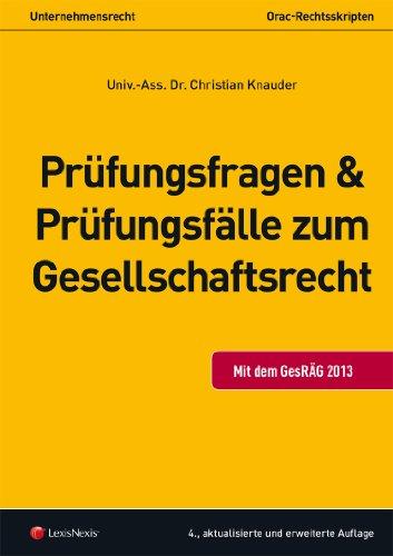 9783700756415: Unternehmensrecht (HR) - Prüfungsfragen und Prüfungsfälle zum Gesellschaftsrecht