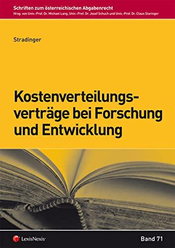 Kostenverteilungsverträge bei Forschung und Entwicklung (f. Österreich): Theresa ...