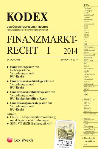 9783700758235: KODEX Finanzmarktrecht I: Bankenrecht mit EU-Recht