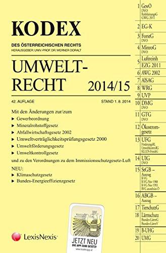 9783700758914: Kodex Umweltrecht 2014/15