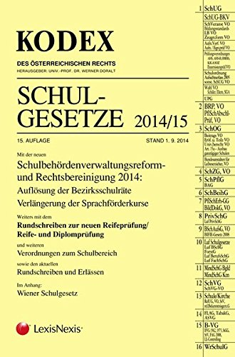 9783700759430: Kodex Schulgesetze 2014/15