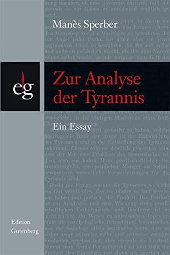 9783701175499: Zur Analyse der Tyrannis
