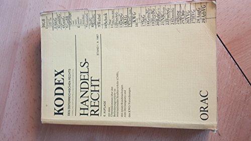 Handelsrecht Stand 1.9.1987: Doralt, Univ.-Prof. Dr. Werner (Hrsg.):