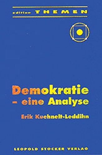 9783702007379: Demokratie: Eine Analyse (German Edition)