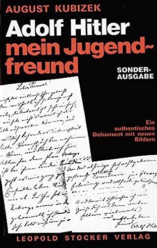 9783702009717: Adolf Hitler - mein Jugendfreund.