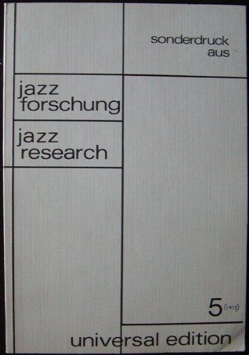 Jazz Research (Jazzforschung): Koerner Friedrich