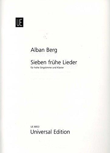 9783702411237: 7 fr�he Lieder, f�r Gesang und Klavier