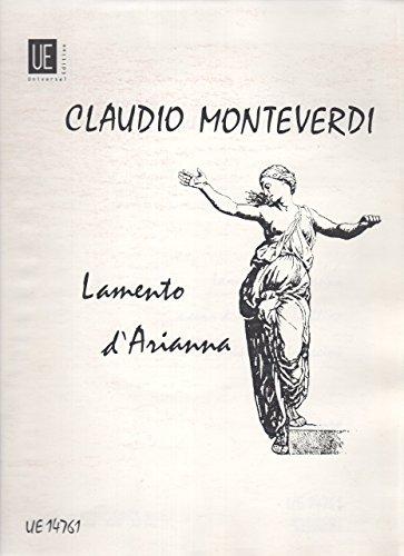 Lamento d'Arianna pour Voix Soprano, Violon 1,: Claudio Monteverdi