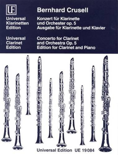 Concerto for Clarinet and Orchestra Op. 5: Edition for Clarinet and Piano: Universal Edition