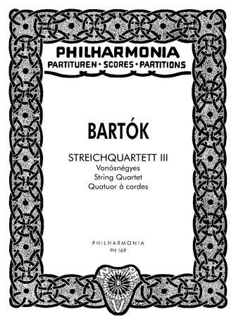 String Quartet No. 3. Miniature score