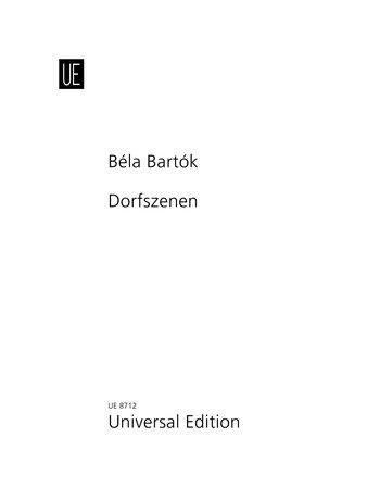 9783702423841: FIVE (5) VILLAGE SONGS FOR FEMALE VOICE AND PIANO DORFSZENEN VILLAGE SCENES