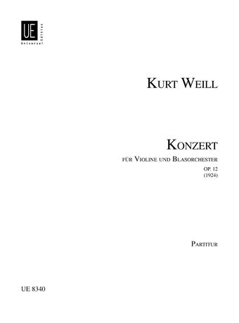 9783702426835: Concerto for Violin & Wind Instruments, Op. 12: Full Score