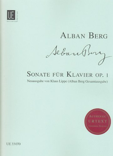 Sonate Op 1: Berg Alban (Composer)