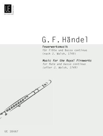 Feuerwerksmusik: für Flöte und Basso continuo. Nach Drucken von J. Walsh 1749 (Pamphlet)