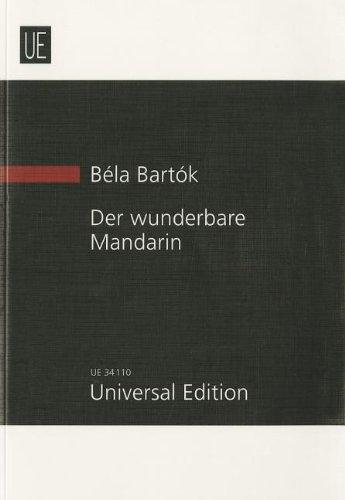 DER WUNDERBARE MANDARIN (MIRACULOUS MANDARIN) STUDY SCORE FOR ORCHESTRA: B�la Bart�k
