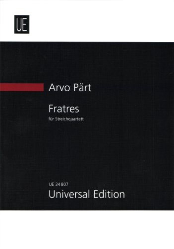 9783702470487: Fratres (for Two Violins, Viola & Cello)