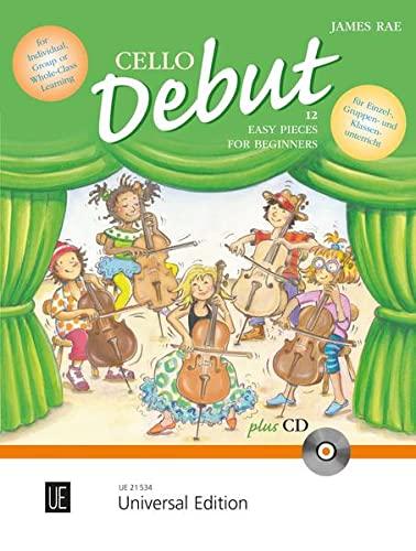 9783702471163: Cello Debut: Zwölf leichte Stücke für den Anfang im Einzel-, Gruppen- und Klassenunterricht. für 1-2 Violoncelli mit CD oder Klavierbegleitung. Ausgabe mit CD