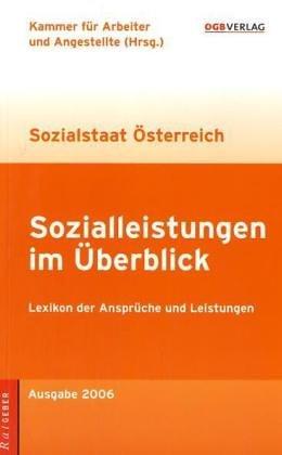 9783703510960: Sozialleistungen im Überblick. Lexikon der Ansprüche und Leistungen