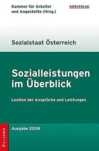 9783703513268: Sozialleistungen im Überblick, Sozialstaat Österreich