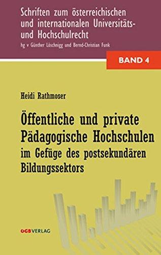 9783703515309: Öffentliche und private pädagogische Hochschulen im Gefüge des postsekundären Bildungssektors