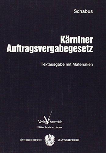 Kärntner Auftragsvergabegesetz: Michaela Schabus