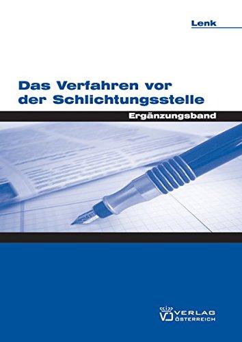 Das Verfahren vor der Schlichtungsstelle: Peter Heindl