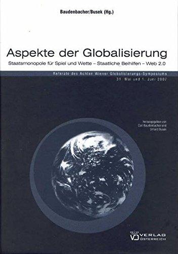 Aspekte der Globalisierung: Carl Baudenbacher