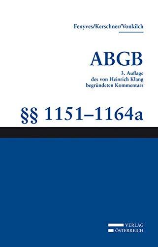 Kommentar zum ABGB - Klang-Kommentar Bd. 22: Ferdinand Kerschner