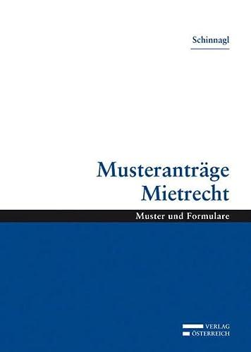 Musteranträge Mietrecht (Hardback): Michaela Schinnagl