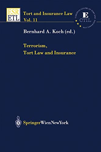 9783704657954: Terrorism, Tort Law and Insurance