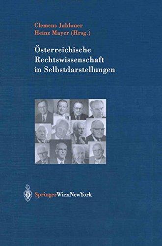 Österreichische Rechtswissenschaft in Selbstdarstellungen: Clemens Jabloner