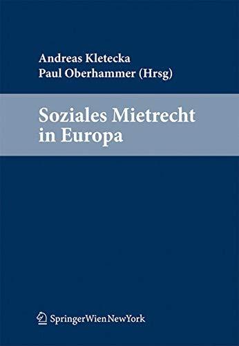 Soziales Mietrecht in Europa: Andreas Kletecka