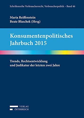 Konsumentenpolitisches Jahrbuch 2015: Beate Blaschek