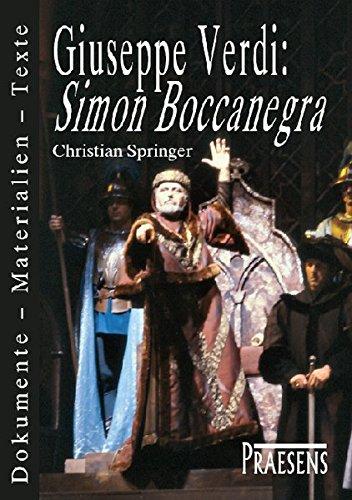 """Giuseppe Verdi: """"Simon Boccanegra"""": Christian Springer"""