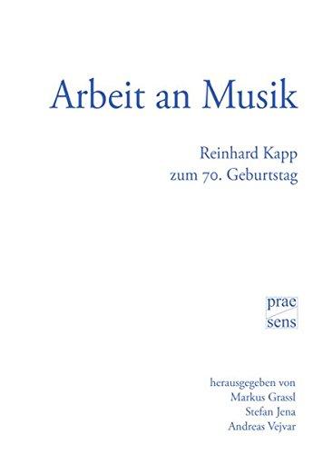 Arbeit an Musik: Reinhard Kapp zum 70.: Jena Stefan, Vejvar