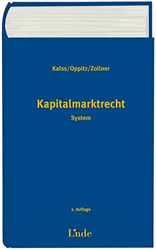Kapitalmarktrecht (f. Österreich): Susanne Kalss