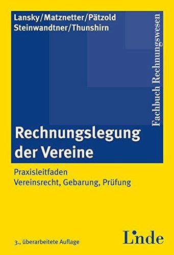 Rechnungslegung der Vereine (f. Österreich): Gabriel Lansky