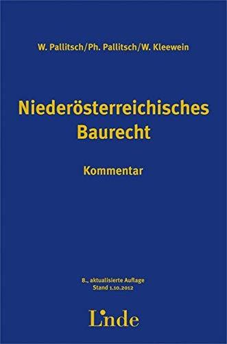 9783707318869: Niederösterreichisches Baurecht