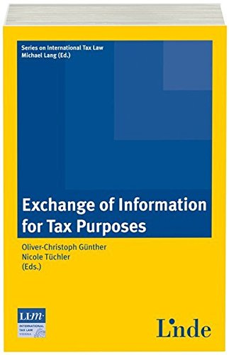 9783707324099: Exchange of Information for Tax Purposes (f. Österreich)