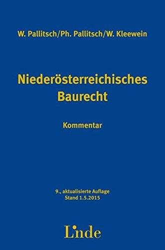 9783707331950: Niederösterreichisches Baurecht, Kommentar