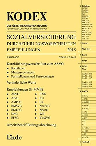 9783707333398: KODEX Sozialversicherung 2015 (f. �sterreich). Bd.3