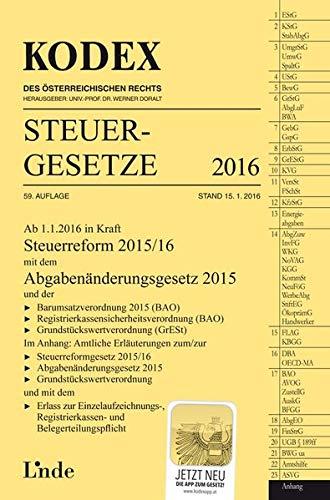 9783707334432: KODEX Steuergesetze 2016 (f. Österreich)