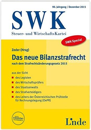 SWK-Spezial Das neue Bilanzstrafrecht: Jettmar, Rudolf, Kerschbaumer,